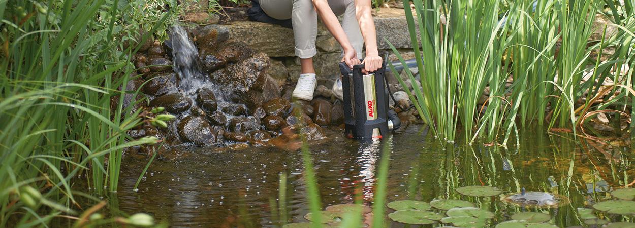 Корисні поради AL-KO: природна боротьба із водоростями у ставку
