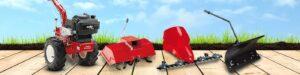 Многофункциональные мотоблоки AL-KO: косилка, культиватор и плуг в одном устройстве