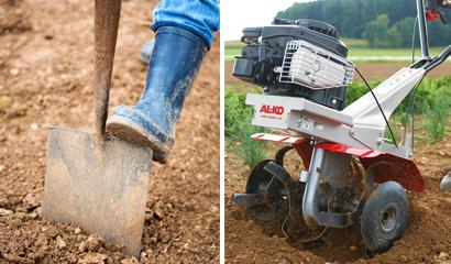 Під час підготовки ділянки для газону ґрунт перекопують на глибину 20-30 см.