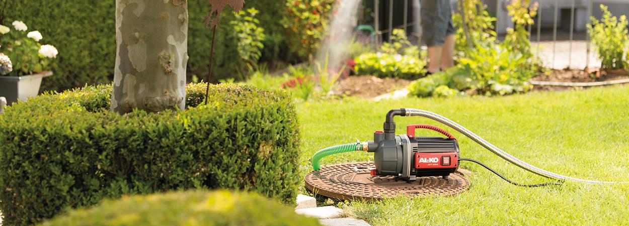 Система полива на участке: 3 линейки садовых шлангов AL-KO