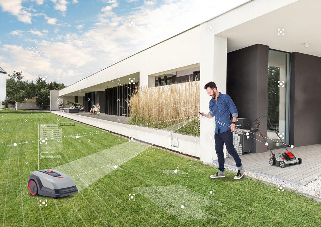 Система «умный сад» AL-KO Smart Garden позволяет интеллектуально управлять роботами и дает возможность автоматизированного сервисного обслуживания садовых устройств.