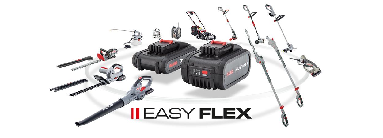 Семейство Easy Flex: базовая серия легкой аккумуляторной техники AL-KO