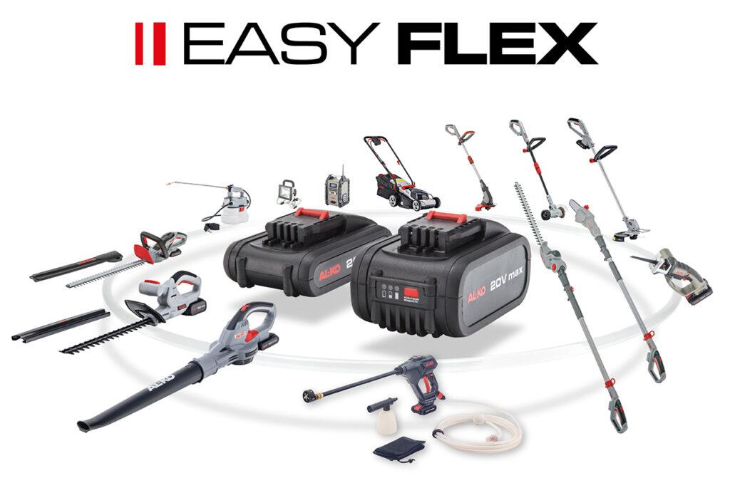В серию Easy Flex входит более 10 полезных садовых устройств бытового класса.